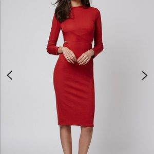Panel Cut-Out Midi Dress